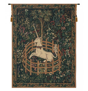 Unicorn In Captivity II Wall Decorating Tapestry