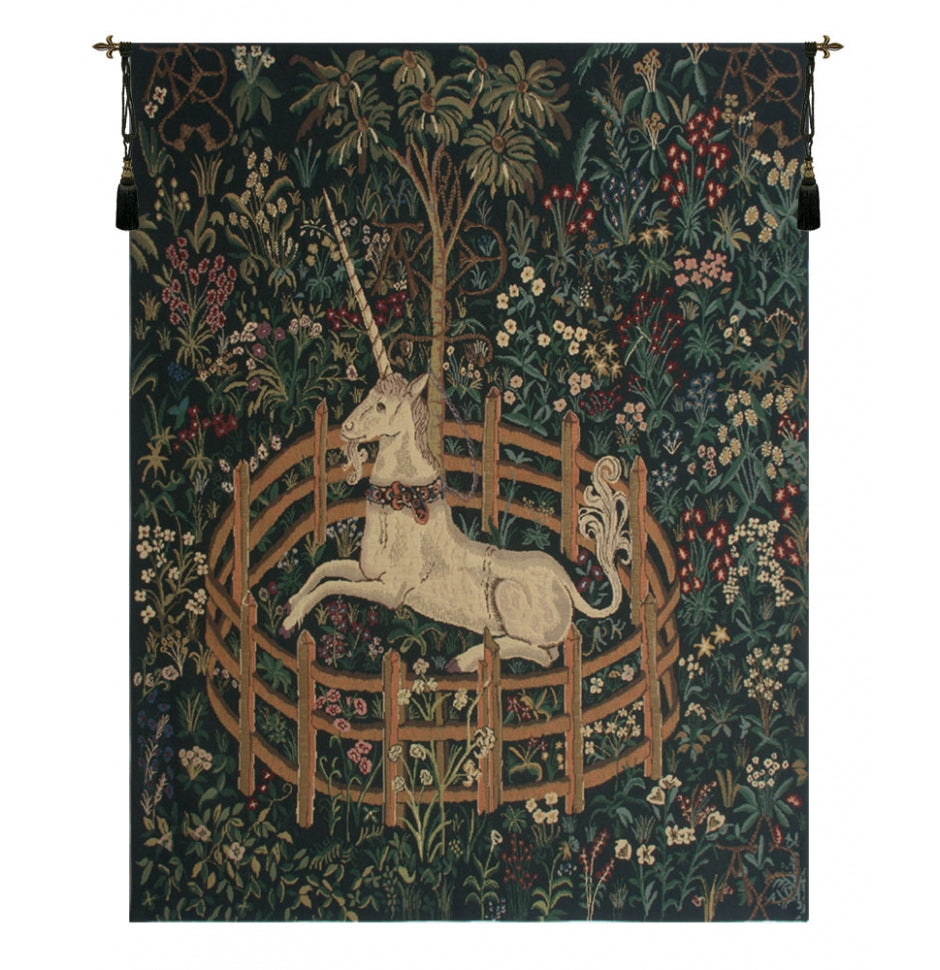Unicorn In Captivity II Wall Tapestry