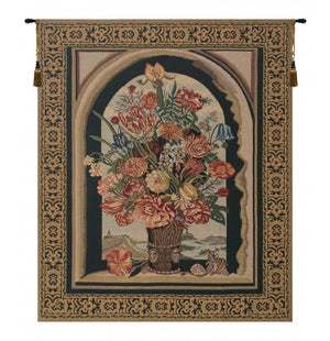 Beige Ambrosius Bouquet Wall Tapestry