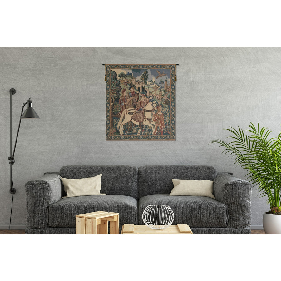 Large Tall Falcon Hunt Wall Tapestry Decor