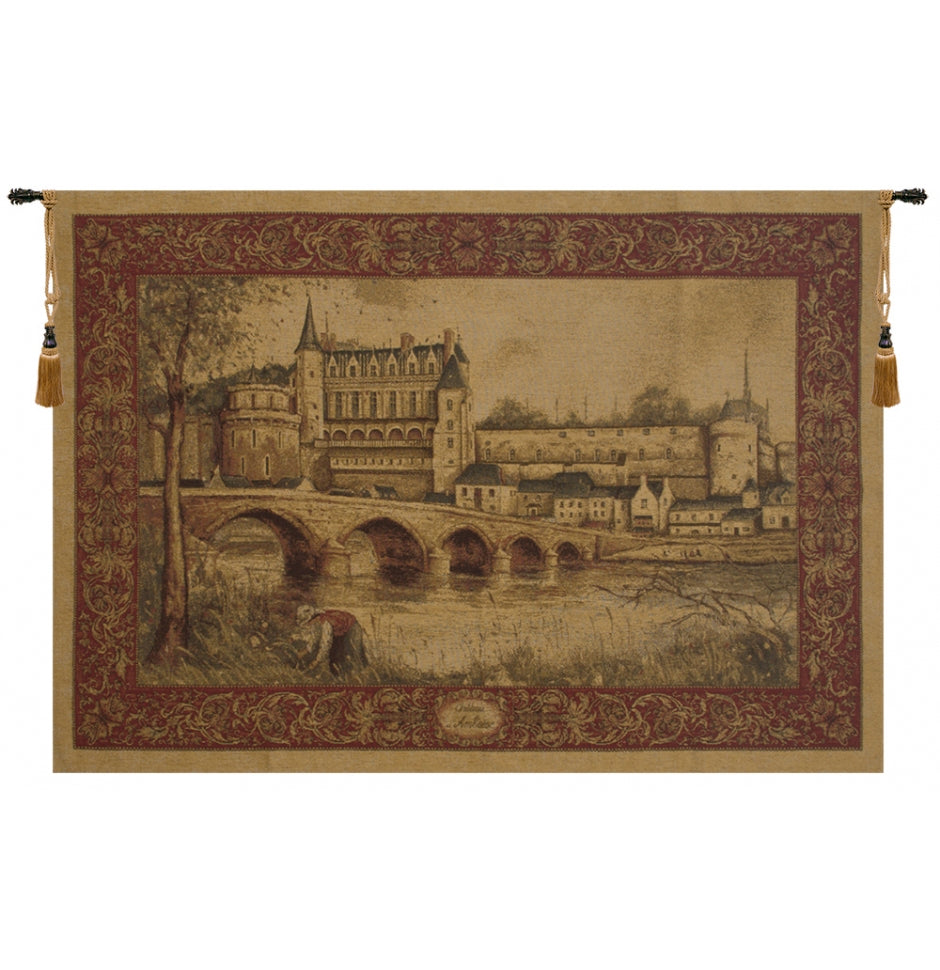 Chateau d Amboise Belgian Wall Hanging Tapestry