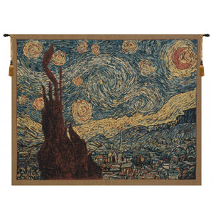 Blue Van Gogh Starry Night Wall Decorating Accent