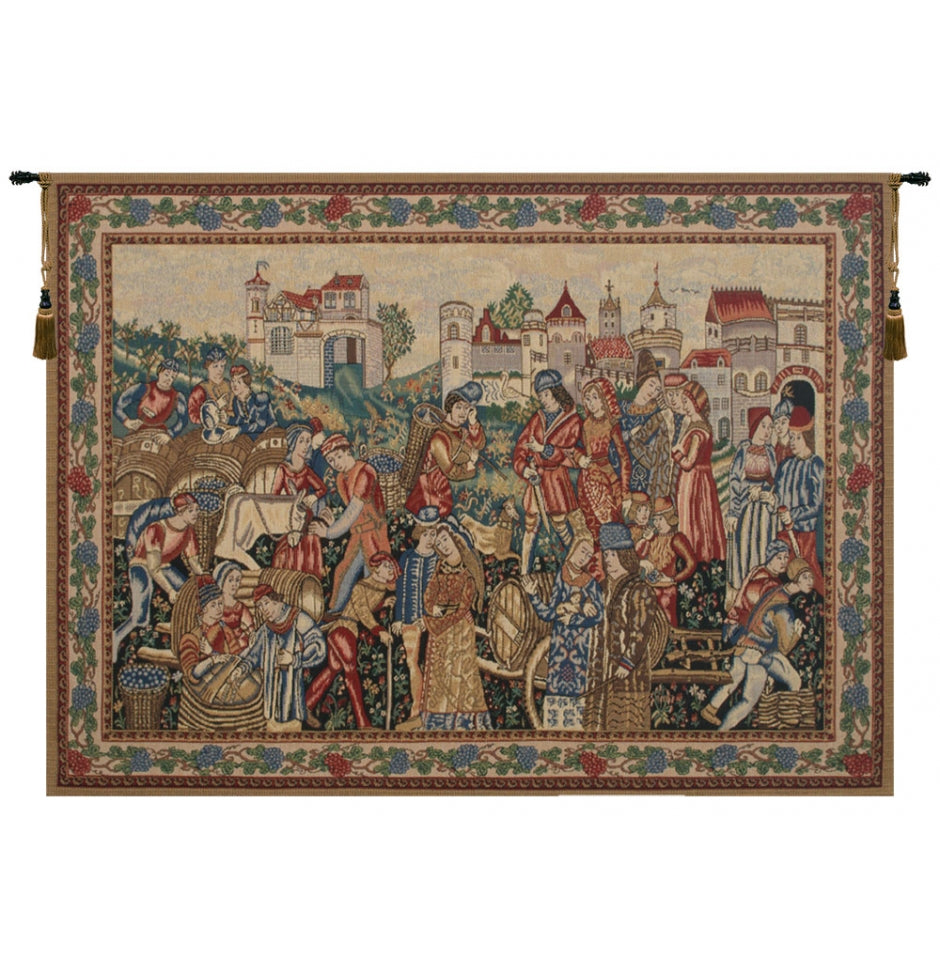 Wine Theme Merchants Woven Wall Tapestry