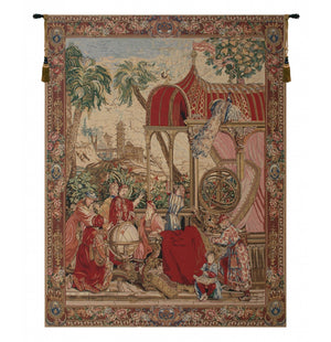 Red Les Astronomes Wall Tapestry