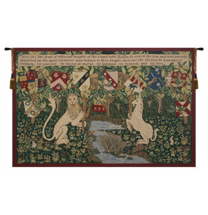 Green Arms of the Knights Woven Wall Decor