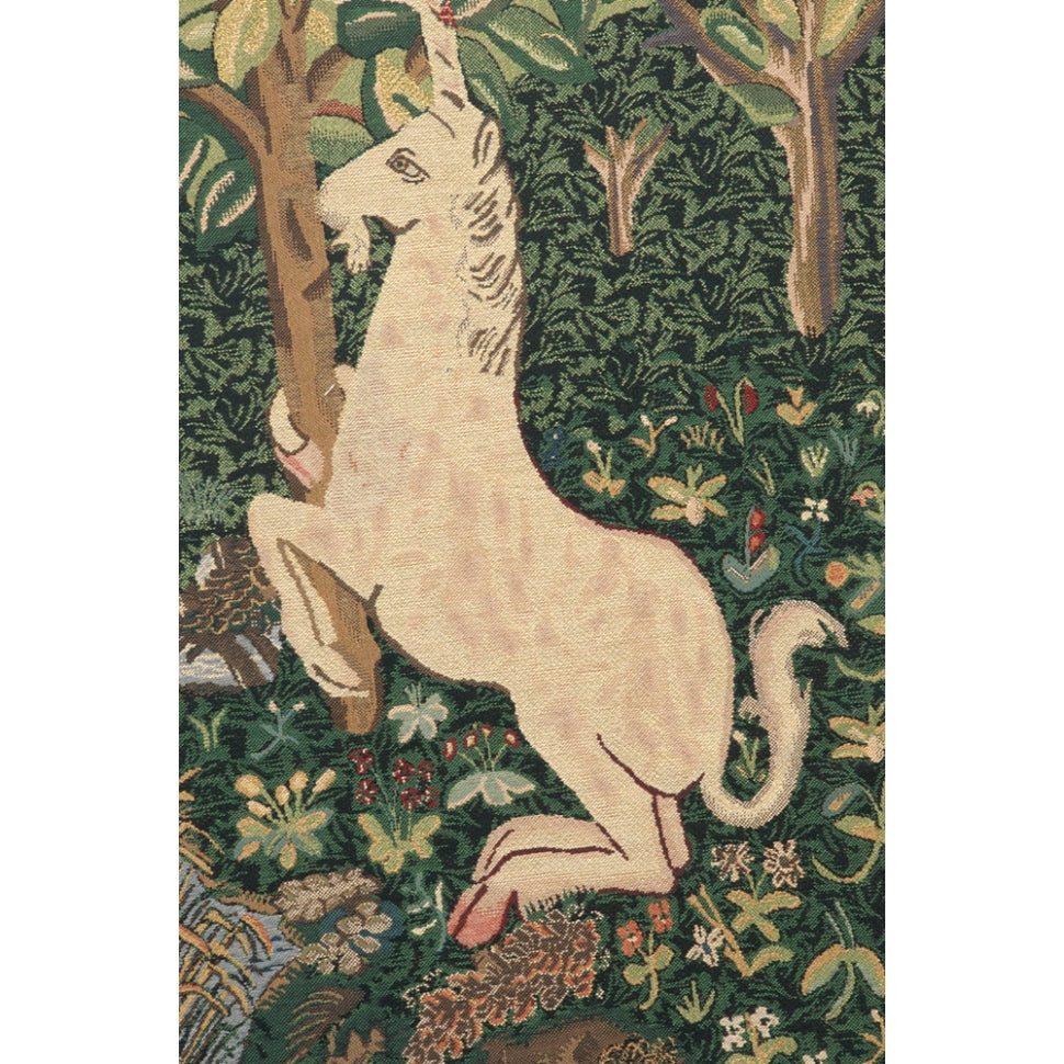 Green Unicorn Woven Tapestry