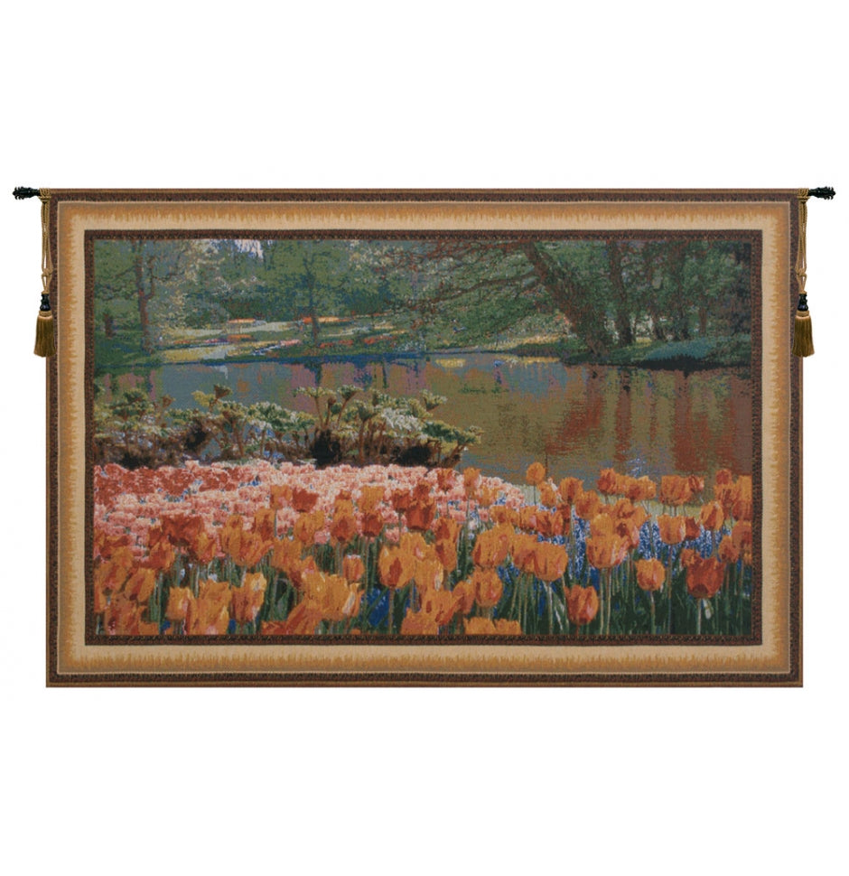 Keukenhof I Cotton Wall Tapestry Hanging