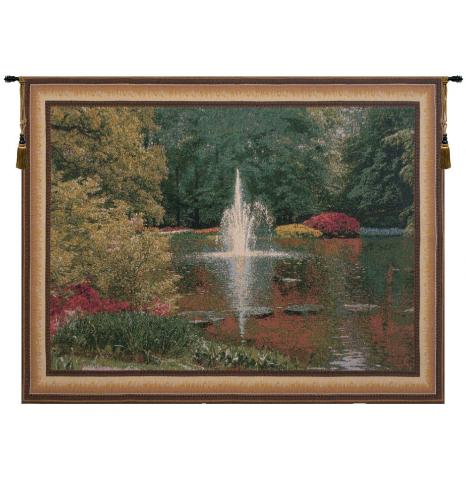 Green Keukenhof V Woven Wall Tapestries
