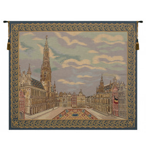 Cream Brussels Place Woven Wall Tapestry