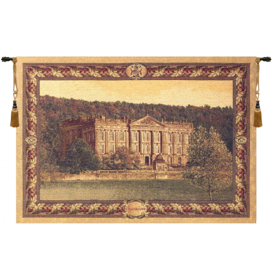 Beige Chatsworth Castle Derbyshire Chenille Home Decor