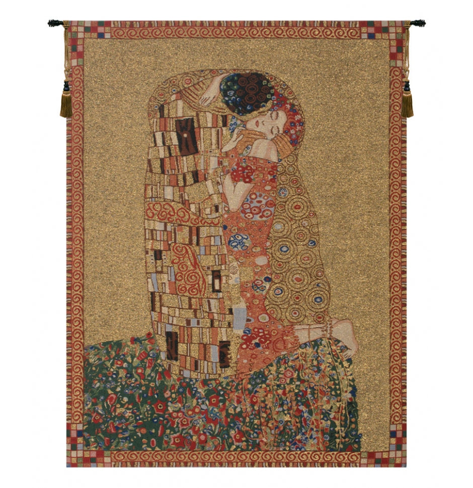 Klimt's Kiss Wall Hanging Decor