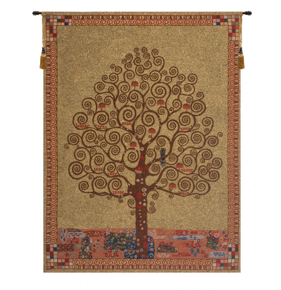Gold Klimt Tree Of Life Wall Hanging Decor
