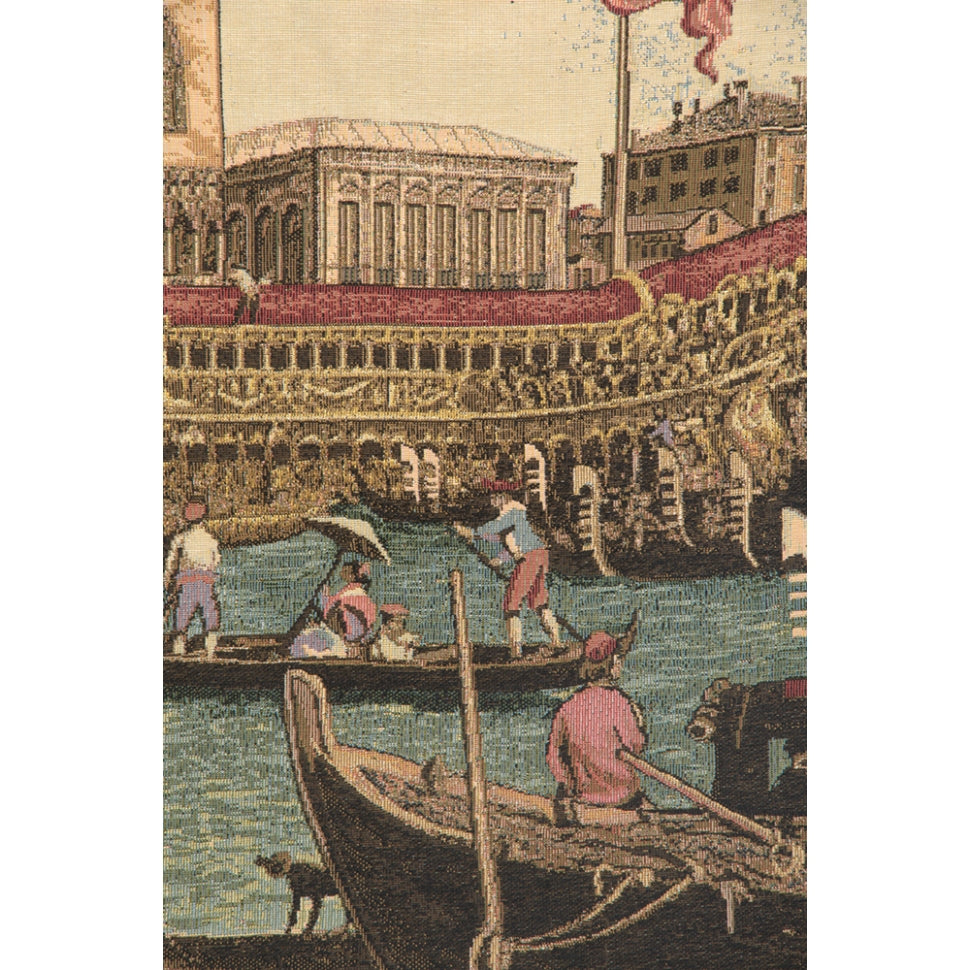 Coastal View of Venice Woven Textile