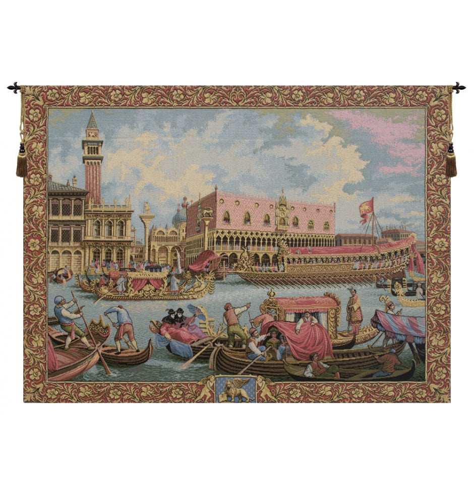 Return of Bucintoro Italian Wall Hanging Tapestry