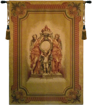 Beige Guardians of the Crown Belgian Wall Hanging Tapestry