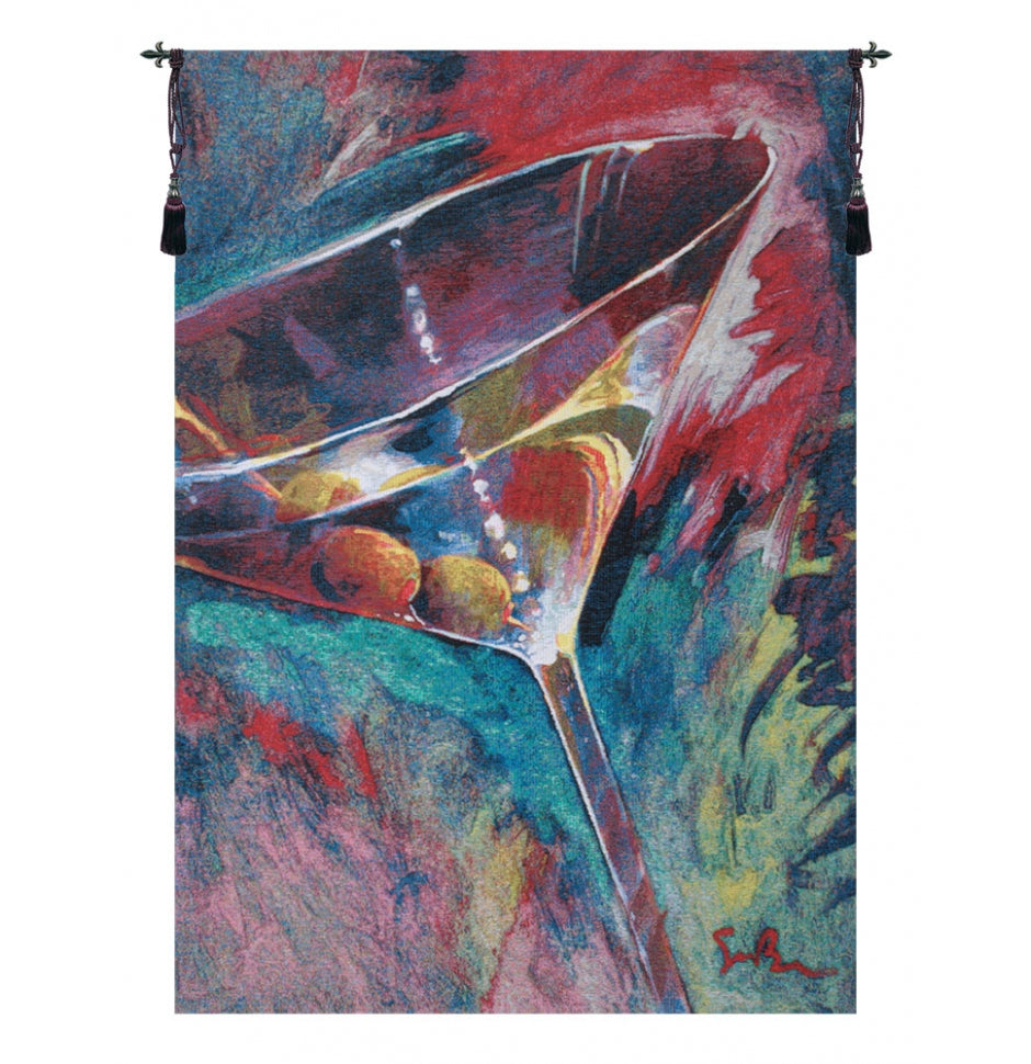 Unforgettable Cocktail Glass Belgian Art Wall Tapestry