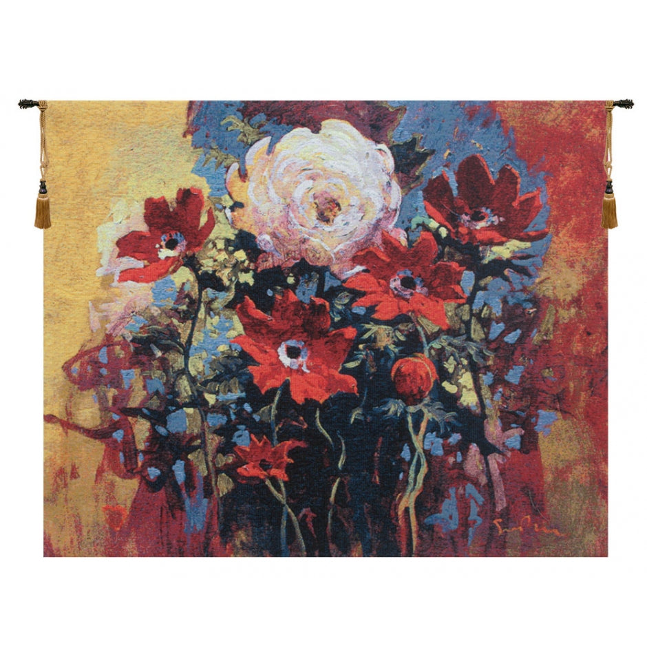 Bouquet by Simon Bull European Hanging Wall Tapestry