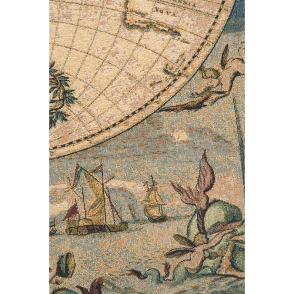 Wide World Map Textile for Room