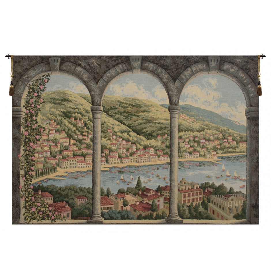 Green Como Lake Italian Wall Hanging Tapestry