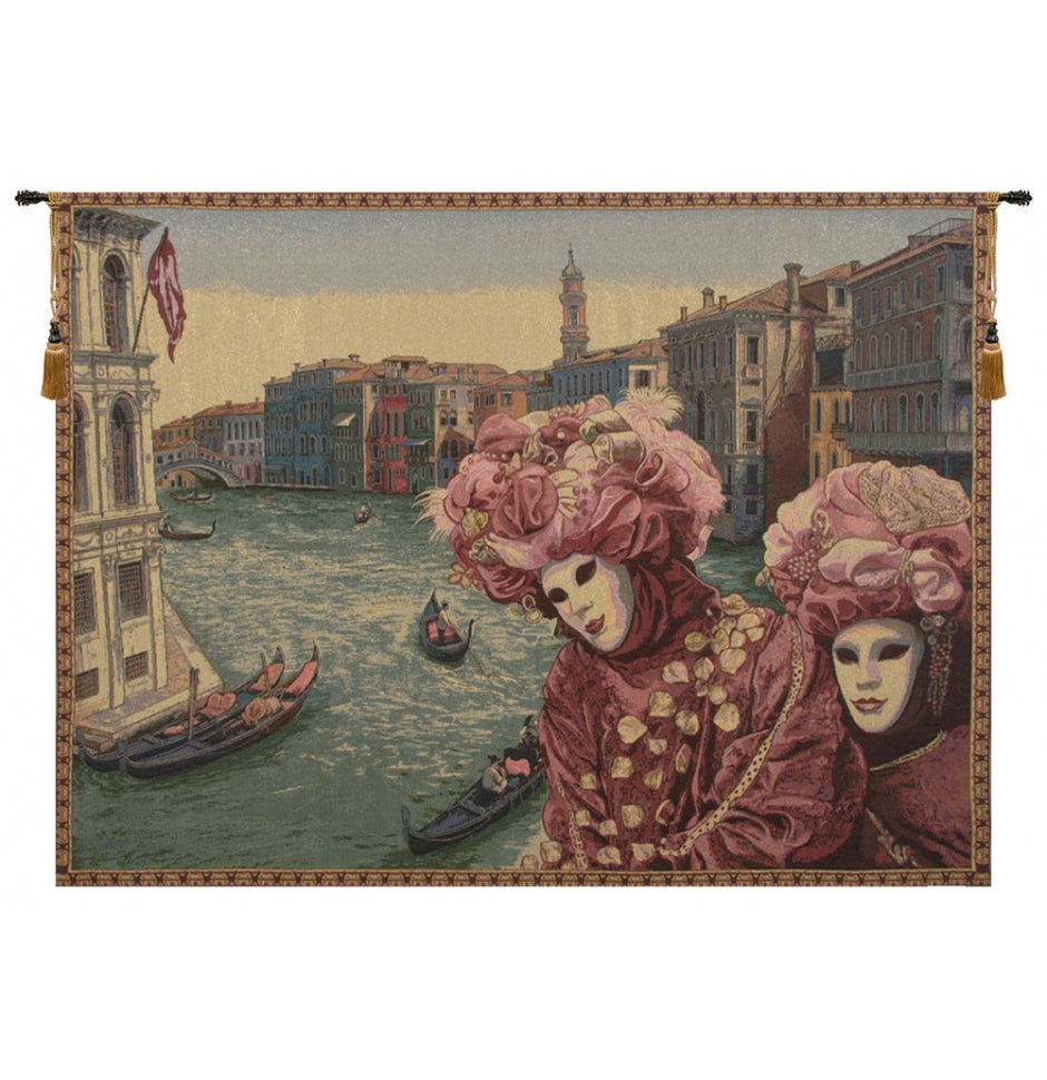 View with Masks Italian Wall Hanging Decor