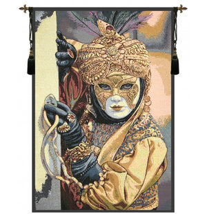 Mask on the Foreground Italian Wall Hanging Tapestry