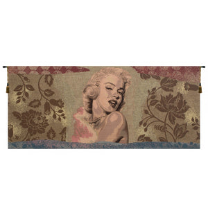 Cream Marylin Monroe Italian Wall Hanging Tapestry