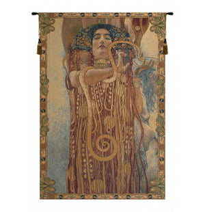 Gold Hygeia by Klimt Italian Wall Hanging Tapestry