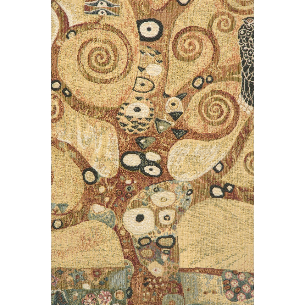 Large Brown Tree of Life Woven Textile