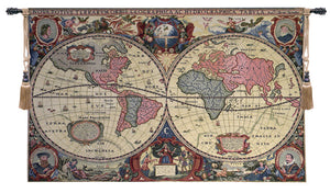 Chenille Map 1 Decor Wall Tapestry