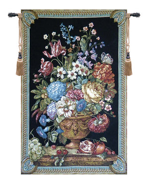 Floral Bouquet Thoughts by Lucio Battisti Decor Wall Tapestry