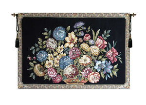 Floral Bouquet Words by Lucio Battisti Decor Wall Tapestry