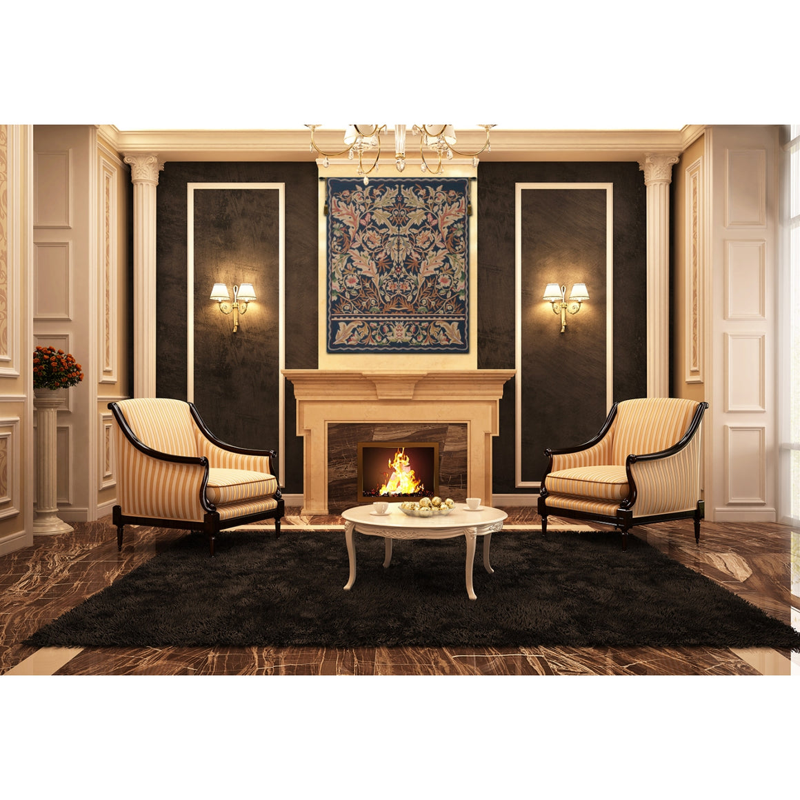Acanthus II Woven Wall Tapestries