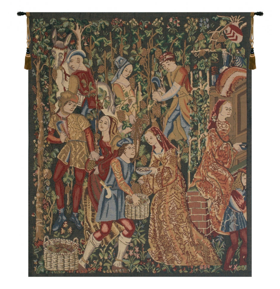 Vendages Right Side Green Wall Hanging Tapestry