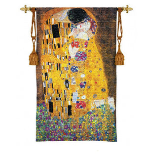 Gustav Klimt The Kiss Wall Art Tapestry