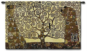 Stoclet Frieze Tree of Life Wall Art Tapestry