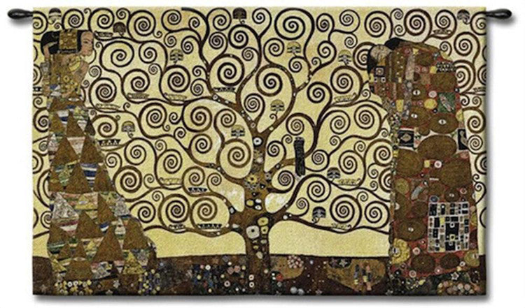 Cream Stoclet Frieze Tree of Life Wall Art Tapestry