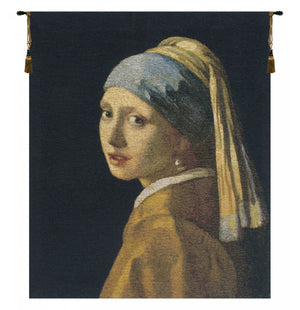 Vermeer Girl With the Pearl Earring Belgian Art Wall Tapestry