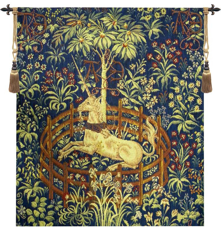 Blue La Licorne Captive III French Wall Hanging Tapestry