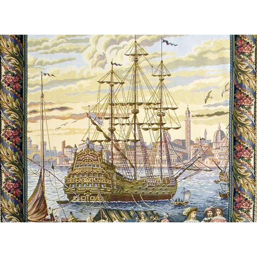 The Galleon I Italian Decor Wall Tapestry