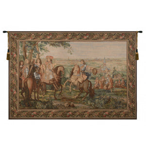 Green La Prise de Lille I French Decor Wall Tapestry