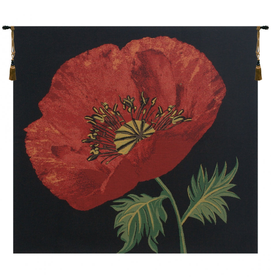 Poppy Red Wall Tapestry