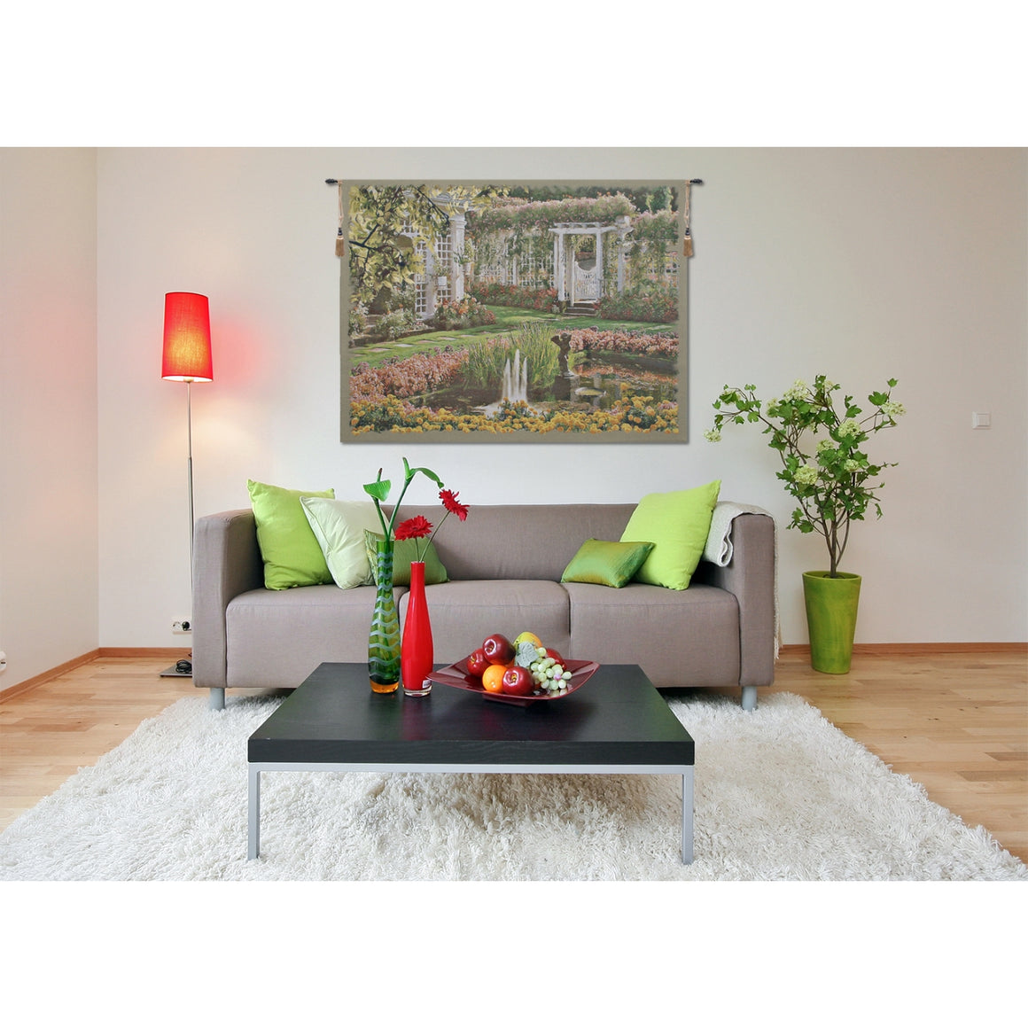 Jardin Top Belgian Art Wall Tapestry