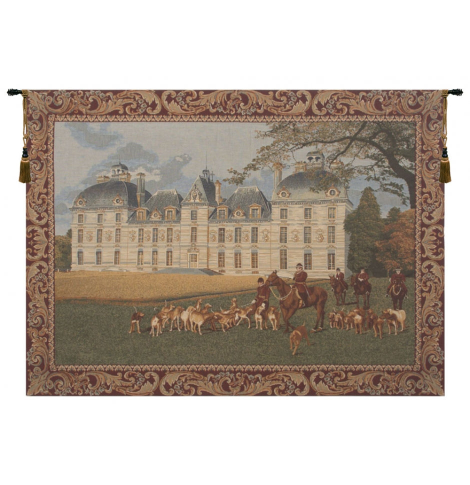 Blue Cheverny I European Wall Hanging Tapestry