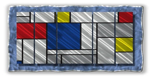 Metallic Mondrian - Metal Wall Art Decor - Ash Carl Designs