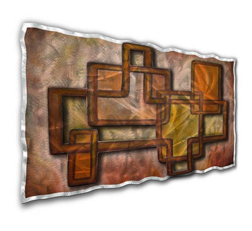 Connected illusion - Metal Wall Art Decor - Ash Carl Designs