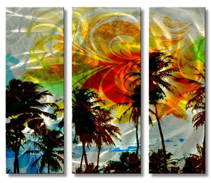 Picturesque Palms - Metal Wall Art Decor - Ash Carl Designs
