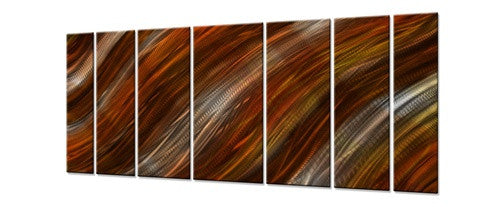 Warm Current - Metal Wall Art Decor - Ash Carl