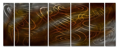 Warm Conjunction - Metal Wall Art Decor - Ash Carl