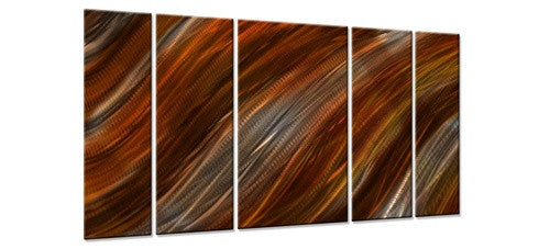 Warm Current II - Metal Wall Art Decor - Ash Carl