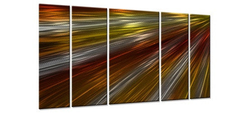 Warm Rays Of Light II - Metal Wall Art Decor - Ash Carl